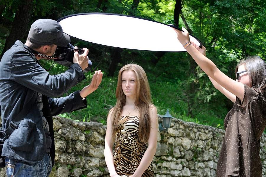 съемка портрета с отражателем