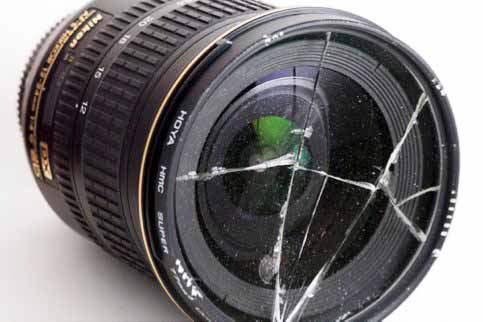 Ультрафиолетовый фильтр защитил переднюю линзу объектива